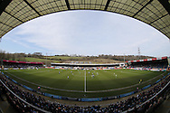 a General view of the match from the Frank Adams stand .Skybet football league two match, Wycombe Wanderers  v AFC Wimbledon at Adams Park  in High Wycombe, Buckinghamshire on Saturday 2nd April 2016.<br /> pic by John Patrick Fletcher, Andrew Orchard sports photography.