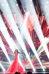 22.05.2015, Stadthalle, Wien, AUT, Eurovision Songcontest Vienna 2015, Kostümprobe für das Große Finale, im Bild Aminata Savadogo aus Lettland // Aminata Savadogo from Latvia during dress rehearsal of the grand final for Eurivision Songcontest Vienna 2015 at Stadthalle in Vienna, Austria on 2015/05/22, EXPA Pictures © 2015, PhotoCredit: EXPA/ Michael Gruber