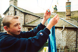 Rural homelessness - teenager living in temporary accommodation, Settle, North Yorkshire, UK