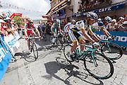 Departure  of the last step of the Vuelta de EspaÒa 2012 at Cercedilla