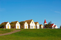 Islande, ferme traditionnelle de Glaumbaer, environs de Varmhlid // Iceland, traditional farm of Glaumbaer around Varmahlid