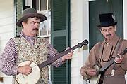 "Arkansas, AR, USA, Old Washington State Park, Civil War Weekend. ""Prairie County Avengers"" a Southern heritage band"