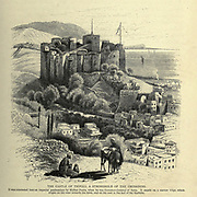 Wood engraving of The Castle of Tripoli, a Stronghold of the Crusaders from 'Picturesque Palestine, Sinai and Egypt' by Wilson, Charles William, Sir, 1836-1905; Lane-Poole, Stanley, 1854-1931 Volume 3. Published in by J. S. Virtue and Co 1883
