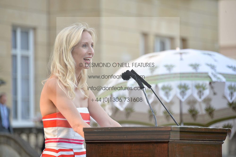 RUTH POWYS at the Quintessentially Foundation and Elephant Family 's 'Travels to My Elephant' Royal Rickshaw Auction presented by Selfridges and hosted by HRH The Prince of Wales and The Duchess of Cornwall held at Lancaster House, Cleveland Row, St.James's, London on 30th June 2015.