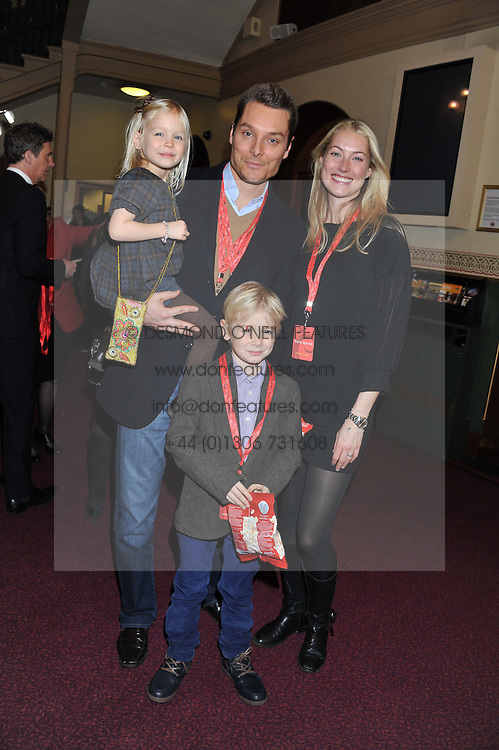 SEB & HEIDI BISHOP with their children SKYE and MAX attend the premier of 2012 Cirque du Soleil's Totem at the Royal Albert Hall, London on 5th January 2012,