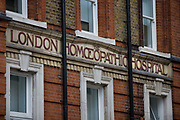 The London Homeopathic Hospital, Part of University College London Hospitals NHS Foundation Trust,on 11th December 2005 in London, United Kingdom. Founded by Dr Frederick Foster Hervey Quin in 1849, it is the largest public sector provider of complementary medicine in Europe. From 3 April 2018, the hospital stopped providing NHS-funded homeopathic remedies for any patients as part of their routine care after health service chiefs said homeopathy was at best, a placebo.