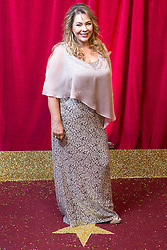 © Licensed to London News Pictures . 16/05/2015 .  The Palace Hotel , Manchester , UK . Nicole Barber-Lane . The red carpet at the 2015 British Soap Awards , The Palace Hotel , Oxford Road , Manchester . Photo credit : Joel Goodman/LNP
