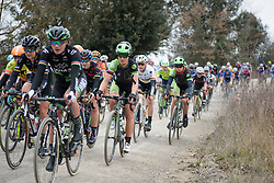 Malgorzata Jansinska (Cylance) at Strade Bianche - Elite Women. A 127 km road race on March 4th 2017, starting and finishing in Siena, Italy. (Photo by Sean Robinson/Velofocus)