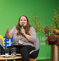 DEU, Deutschland, Germany, Berlin, 24.11.2018: Ricarda Lang, Spokesperson for Grüne Jugend. Council of the European Green Party (EGP council) at Deutsche Telekom Representative Office.