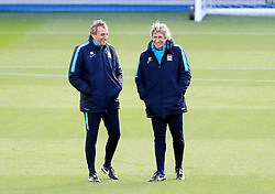 Manchester City Manager, Manuel Pellegrini smiles - Mandatory byline: Matt McNulty/JMP - 25/04/2016 - FOOTBALL - City Football Academy - Manchester, England - Manchester City v Real Madrid - UEFA Champions League Training Session