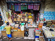 04 AUGUST 2017 - PAYANGAN, BALI, INDONESIA: A shop in the local market in Payangan, about 45 minutes from Ubud. Bali's local markets are open on an every three day rotating schedule because venders travel from town to town. Before modern refrigeration and convenience stores became common place on Bali, markets were thriving community gatherings. Fewer people shop at markets now as more and more consumers go to convenience stores and more families have refrigerators.      PHOTO BY JACK KURTZ