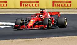 Ferrari's Sebastian Vettel during the 2018 British Grand Prix at Silverstone Circuit, Towcester.