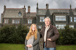 © London News Pictures. Pictured - The present owner of Lingholm David Seymour with his daughter Jenny who now takes care of the daily running of the estate. Previously unseen pictures of Beatrix potter with her family have been unearthed during the purchase and restoration of the Lingholm Estate, the Potter family holiday home, where Beatrix potter drew inspiration for many of her most famous characters. Famous books such as Peter Rabbit and Squirrel Nutkin were inspired by the surroundings of the Cumbria estate, which is being opened to the public for the first time. Photo credit: Andrew McCaren/LNP WORDS AVAILABLE HERE http://tinyurl.com/oyb7url