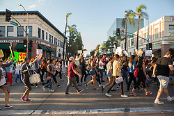 September 5, 2017 - Santa Ana, California, U.S - Hundreds took to the street of downtown Santa Ana to protest the removal of DACA on Tuesday September 05, 2017 (Credit Image: © Kevin Warn via ZUMA Wire)