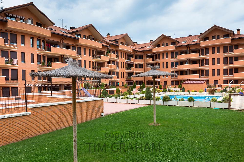 New housing development La Pardina at Jaca in Northern Spain