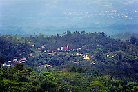 Indonesia, Sulawesi, Rurukan. Village church in the Rurukan area not far from Tomohon in the Minahasa highland.
