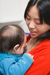 Chinese mother and child.