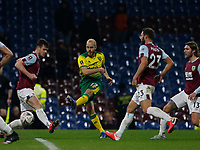 Football - 2019 / 2020 Emirates FA Cup - Fourth Round: Burnley vs. Norwich City<br /> <br /> Teemu Pukki of Norwich City fires in a shot, at Turf Moor.<br /> <br /> COLORSPORT/ALAN MARTIN