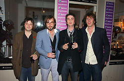 Members of rock group Supergrass MARK QUINN, GAZ COOMBS, DANNY GOFFEY and ROB COOMBESat a party to launch Pearl Lowe's fashion held at The Cross. 141 Portland Road, Holland Park, W11 on 30th October 2006.<br />