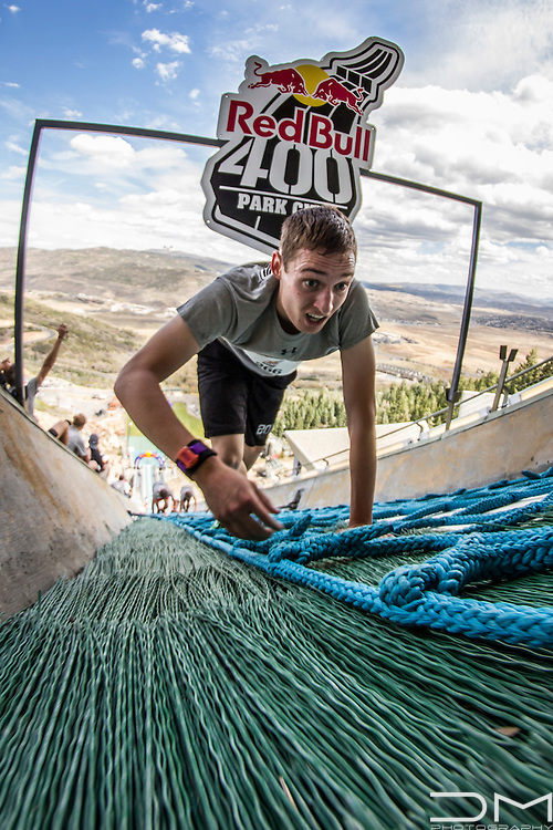 Participant of the first Red Bull 400 in Park City.