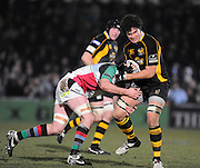 Wycombe, GREAT BRITAIN,   Wasps', Dan LEO, during the London Wasps vs Harlequins match, at Adam's Park Stadium, Bucks on Sun 04.01.2009. [Photo, Peter Spurrier/Intersport-images]