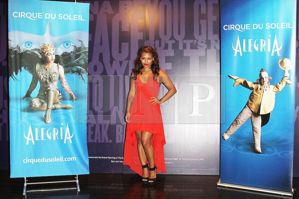 © London News PIctures. Vanessa White, Cirque Du Soleil Alegria opening night, O² Arena, London UK, 18 July 2013. Photo credit: Richard Goldschmidt/LNP