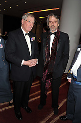 Left to right, the DUKE OF GLOUCESTER and  JERMY IRONS at the Soldiering On Awards 2013 held at the Park Plaza Hotel, Westminster Bridge, London SE1 on 23rd March 2013.