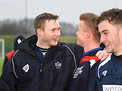 Bristol Academy players celebrate their win - Mandatory by-line: Paul Knight/JMP - 11/02/2017 - RUGBY - SGS Wise Campus - Bristol, England - Bristol Academy v Gloucester Academy - Premiership Rugby Academy U18 League