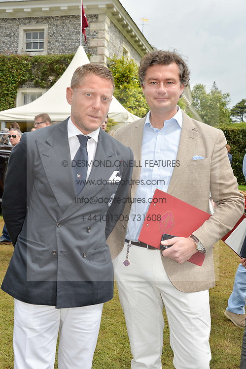 Left to right, LAPO ELKANN and LAURENT FENIOU MD of Cartier UK at the Cartier hosted Style et Lux at The Goodwood Festival of Speed at Goodwood House, West Sussex on 26th June 2016.