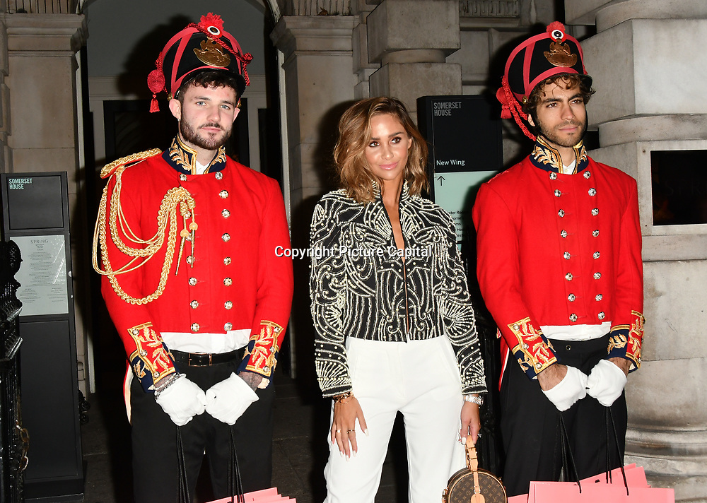 LOUISE THOMPSON ARRIVERS BOUX AVENUE XMAS CAMPAIGN LAUNCH EVENT at SOMERSET HOUSE, on 9 November 2018, London, UK.