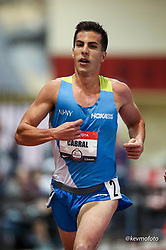 2020 USATF Indoor Championship<br /> Albuquerque, NM 2020-02-14<br /> photo credit: © 2020 Kevin Morris<br /> mens 3000m, HOKA