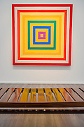 Works by Frank Stella in the Marianne Boesky Gallery - Frieze Masters London 2016, Regents Park, London. It covers several thousand years of art from 130 of the world's leading modern and historical galleries. The vetted artworks spanning antiquities, Asian art, ethnographic art, illuminated manuscripts, Medieval, modern and post-war, Old Masters and 19th-century, photography, sculpture and Wunderkammer.  The fair is open to the public 06-09 October.