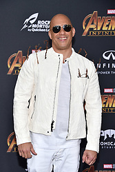 Vin Diesel attends the World Premiere of Avengers: Infinity War on April 23, 2018 in Los Angeles, California. Photo by Lionel Hahn/ABACAPRESS.COM