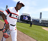 CHICAGO - APRIL 28:  Tim Anderson #7 of the Chicago White Sox looks on prior to the game against the Detroit Tigers on April 28, 2019 at Guaranteed Rate Field in Chicago, Illinois.  (Photo by Ron Vesely)  Subject:   Tim Anderson