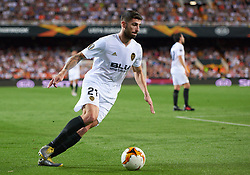May 9, 2019 - Valencia, U.S. - VALENCIA, SPAIN - MAY 09: Cristiano Piccini, defender of Valencia CF in action with the ball during the UEFA Europa League semifinal in the match of the second stage between Valencia CF and Arsenal FC at the Mestalla stadium in May. 09, 2019 in Valencia, Spain. (Photo by Carlos Sanchez Martinez / Icon Sportswire) (Credit Image: © Carlos Sanchez Martinez/Icon SMI via ZUMA Press)