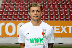 08.07.2015, WWK Arena, Augsburg, GER, 1. FBL, FC Augsburg, Fototermin, im Bild Alexander Esswein #11 (FC Augsburg) // during the official Team and Portrait Photoshoot of German Bundesliga Club FC Augsburg at the WWK Arena in Augsburg, Germany on 2015/07/08. EXPA Pictures © 2015, PhotoCredit: EXPA/ Eibner-Pressefoto/ Kolbert<br /> <br /> *****ATTENTION - OUT of GER*****