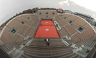 Wilde view of Suzanne Langlen clay stadium with the roof of Philippe Chatrier cay stadium on the right during the Roland Garros 2020, Grand Slam tennis tournament, on September 30, 2020 at Roland Garros stadium in Paris, France - Photo Stephane Allaman / ProSportsImages / DPPI