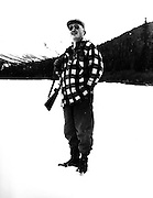 Gordon MacQuarrie at Rainy Pass in Alaska, October 1947.