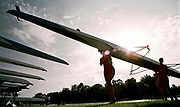 © Peter Spurrier/Sports Photo<br /> e-mail pictures@rowingpics.com<br /> 44 (0) 973 819 551<br /> Women's Henley Regatta 2000, 17-18 June 2000. <br /> <br /> Wallingford's women's coxed four returning after their heat of the Women's open coxed fours, beating Nottingham boat club. <br /> <br /> <br /> <br /> <br /> <br /> <br /> <br /> <br /> <br /> <br />    [Mandatory Credit, Peter Spurier/ Intersport Images]