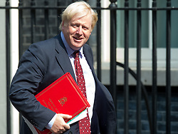 June 20, 2017 - London, United Kingdom - Boris Johnson, Foreign Secretary, arrives and departs from the weekly Cabinet Meeting at Number 10 Downing Street. This weeks Cabinet is the first since the Glenfell Tower fire, The Finsbury Park terror attack and the beginning of Brexit negotiations in Brussels. (Credit Image: © Pete Maclaine/i-Images via ZUMA Press)