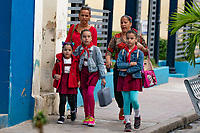 Students on the way to School, Santa Clara, Cuba 2020 from Santiago to Havana, and in between.  Santiago, Baracoa, Guantanamo, Holguin, Las Tunas, Camaguey, Santi Spiritus, Trinidad, Santa Clara, Cienfuegos, Matanzas, Havana