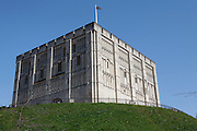 Norwich castle Norman keep, Norfolk, England The stone keep, which still stands today, was probably built between 1095 and 1110 faced with Caen stone from France.