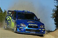 AUTO - WRC 2005 - NEW ZEALAND RALLY - AUCKLAND 10/04/2005 - PHOTO : DIGITALSPORT<br /> PETTER SOLBERG (NOR) /  PHIL MILLS /SUBARU IMPREZA WRC -