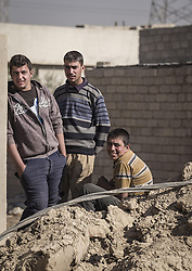 November 26, 2016 - Mosul, Nineveh Governorate, Iraq - Boys from the liberated part of Mosul. (Credit Image: © Berci Feher via ZUMA Wire)