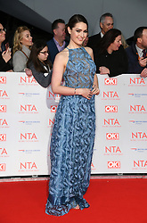 Anna Passey attending the National Television Awards 2018 held at the O2, London. Photo credit should read: Doug Peters/EMPICS Entertainment