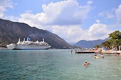 Marella Celebration cruise ship, operated by the holiday company TUI, Kotor, Montenegro, July 2018.