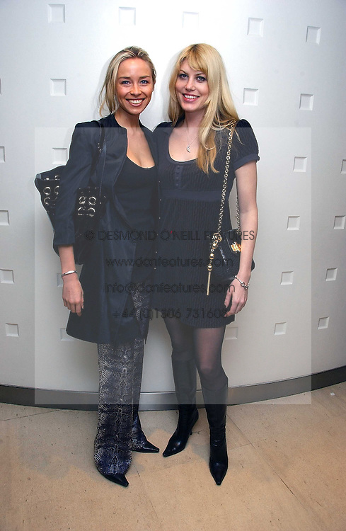 Left to right NOELLE RENO and MEREDETH OSTROM at a lunch hosted by Fawaz Gruosi to celebrate the launch of De Grisogono's latest watch 'Be Eight' held at Nobu, 19 Old Park Lane, London W1 on 30th November 2006.<br /><br />NON EXCLUSIVE - WORLD RIGHTS