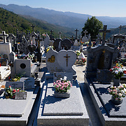 Small cemetery near Soajo, with view to the surrounding mountains