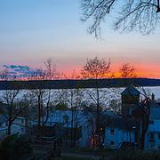 Hudson River Sunset from Dobbs Ferry NY