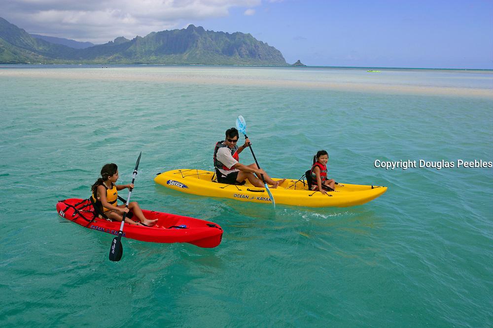Kayking, Kaneohe Bay, Oahu, Hawaii<br />